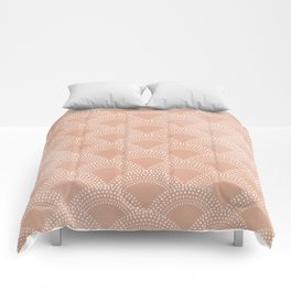 Elegant blush pink mermaid fish scale pattern Comforters