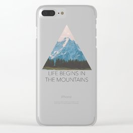 Wandering Hearts Clear iPhone Case