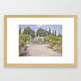 An Italian Garden by William Merritt Chase Framed Art Print