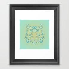 Mint tendrils emblem Framed Art Print