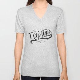 Nap time all the time Unisex V-Neck
