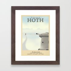 Retro Travel Poster Series - Star Wars - Hoth Framed Art Print