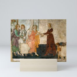 """Sandro Botticelli """"Venus and the Three Graces Presenting Gifts to a Young Woman"""" Mini Art Print"""