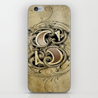 monogram iPhone & iPod Skins featuring monogram s by Art Lahr