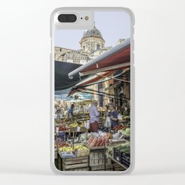 Going to the Market Clear iPhone Case