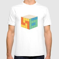 Rubik's S6 Tee White SMALL Mens Fitted Tee