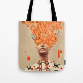Bird Flight in Autumn Tote Bag