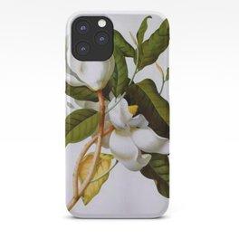 Vintage Botanical White Magnolia Flower Art iPhone Case