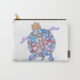 Sea Turtle - Aqua Blue Palette   Folk design Carry-All Pouch