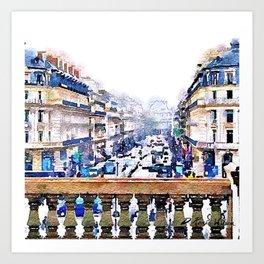 Paris Avenue De L'opera Moderne Art Print