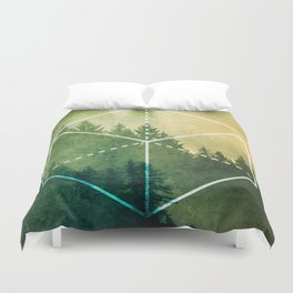 The Elements Geometric Nature Element of Earth Duvet Cover