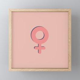 Female Framed Mini Art Print