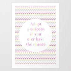 Adopt a Unicorn Art Print