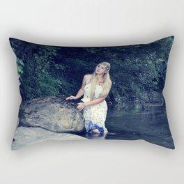 Beautiful girl in the river Rectangular Pillow