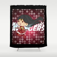magical girl Shower Curtains featuring Magical Girl Iron by monobuu