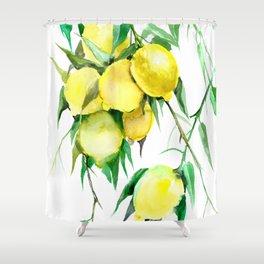 Lemon Tree. lemons kitchen design decor Shower Curtain