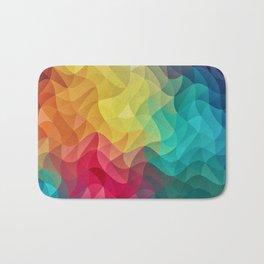 Abstract Color Wave Flash Bath Mat