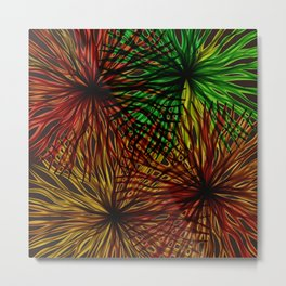 Anemones Aflame Abstract Marine Life Metal Print