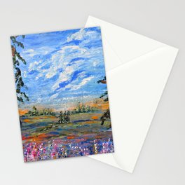 Peach Tree Valley, Impressionism landscape, modern impressionism Stationery Cards