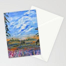 Peach Tree Valley, Impressionism landscape, modern impressionism Stationery Cards