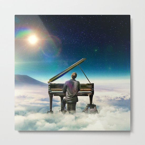 Playing To The Clouds Metal Print