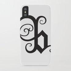 Alphabet B iPhone X Slim Case