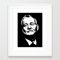 bill murray Framed Art Prints featuring Bill Murray by Laura Lindsey