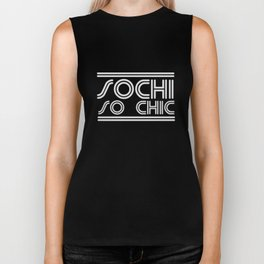 Sochi, so chic (white) Biker Tank
