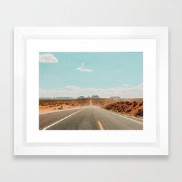 Road to Monument Valley, Navajo County, Arizona Framed Art Print