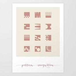 Pattern Recognition Abstracts Art Print