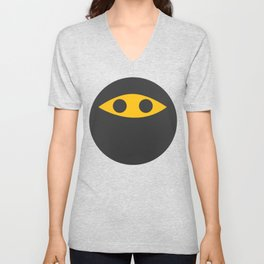Ninja Emoticon Unisex V-Neck