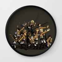 snk Wall Clocks featuring SNK by kanda3egle