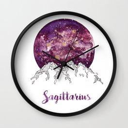 Sagittarius Watercolour Painting Wall Clock