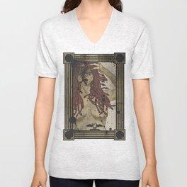 Medusa print Unisex V-Neck