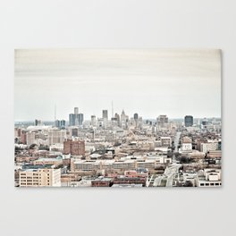 Downtown Detroit Skyline View from New Center Canvas Print