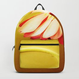 Glowing Yellow Drooping Flower | Nadia Bonello Backpack