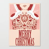 gift card Canvas Prints featuring Christmas Card by AND1