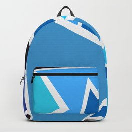 Retro Blue Mid-Century Vintage Minimalist Geometric Line Abstract Art Backpack