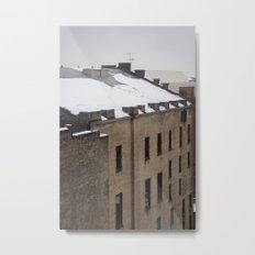 Urban Snowfall Metal Print
