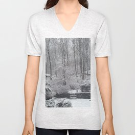 Maplewood - South Mountain Reservation - Snow Unisex V-Neck