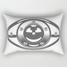 Motorcycle engine cover with a smile in design fashion modern monochrome style illustration Rectangular Pillow