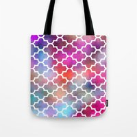 moroccan Tote Bags featuring Moroccan by hollllllyj