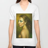 vampire V-neck T-shirts featuring Vampire by George Patsouras
