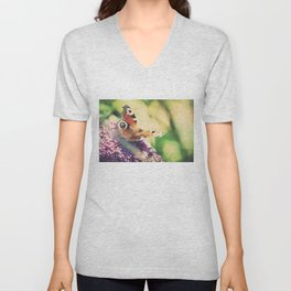 """I only ask to be free. The butterflies are free."" ~ Charles Dickens  Unisex V-Neck"