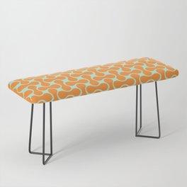 Retro, Geometric Art, orange and green Bench