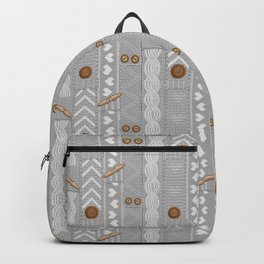 Scarves Knitted Buttoned - Gray Backpack