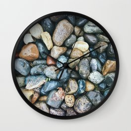 Sea Pebbles Wall Clock