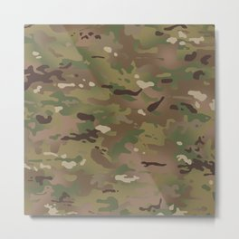 Military Woodland Camouflage Pattern Metal Print
