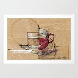 Red Mug Art Print