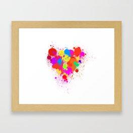 A colorful heart. Framed Art Print